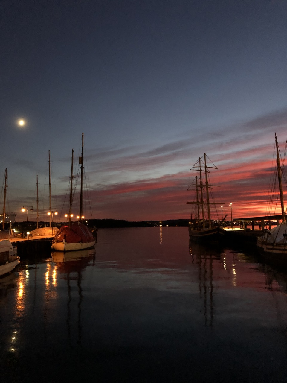 Sunset in Oslo, Norway